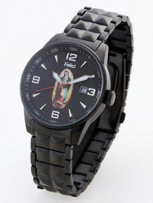 Felici フェリーチ   グアダルーペ マリア・ウオッチ腕時計 クォーツ(日本製)  カラー:ブラック