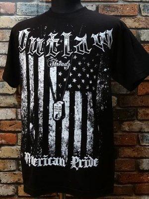 outlaw アウトロウ  Tシャツ (American Pride)  カラー:ブラック