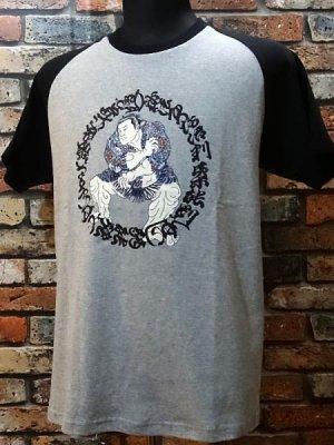 parasite パラサイト Tシャツ sakurafubuki カラー:グレーxブラック
