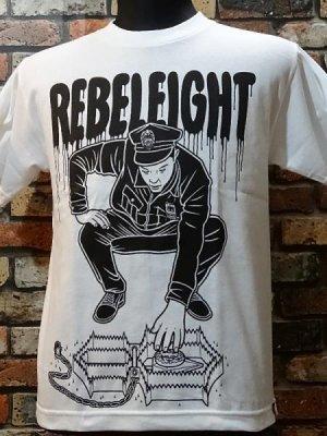rebel8 レベルエイト Tシャツ  cop trap  カラー:ホワイト