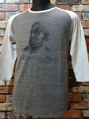 parasite パラサイト 3/4スリーブTシャツ worker  カラー:チャコール