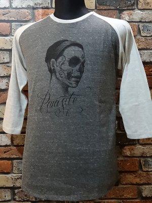parasite パラサイト 3/4スリーブTシャツ swan  カラー:チャコール