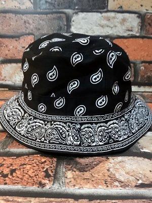 kb ethos ケービーエトス BANDANA柄バケットハット paisley bucket hat  カラー:ブラック