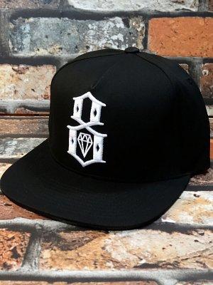 rebel8 レベルエイト キャップ  logo snapback cap  カラー:ブラック