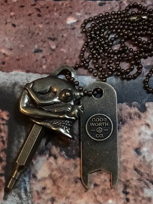 goodworth x repop グッドワースxリポップ skate tool key necklace   カラー:ブラス