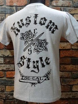 kustomstyle カスタムスタイル Tシャツ (KST1501GY) sword and roses  カラー:ライトグレー