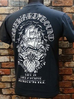 kustomstyle カスタムスタイル Tシャツ (KST1506SL) homeward bound カラー:チャコールネイビー