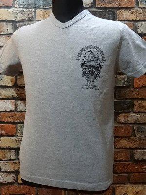 kustomstyle カスタムスタイル VネックTシャツ (KSTV1506GY) homeward bound  カラー:グレー