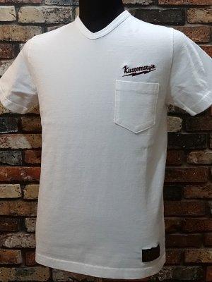 kustomstyle カスタムスタイル VネックTシャツ (KSTVP1504WH) lightning bolt  カラー:ホワイト