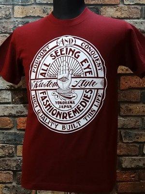 kustomstyle カスタムスタイル Tシャツ (KST1507BG) all seeing eye カラー:バーガンディー