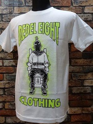 rebel8 レベルエイト Tシャツ  glow in the dark カラー:ホワイト