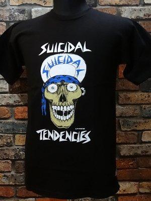 suicidal tendenciesスイサイダルテンデンシーズ Tシャツ(Lance Mountain art skull) カラー:ブラック