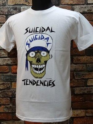 suicidal tendenciesスイサイダルテンデンシーズ Tシャツ (Lance Mountain art skull) カラー:ホワイト