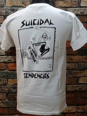 suicidal tendenciesスイサイダルテンデンシーズ Tシャツ (Lance Mountain art Skater) カラー:ホワイト