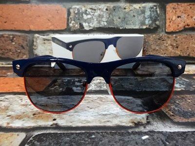 glassy sunhaters グラッシーサンハッターズ サングラス (Shredder-Navy/Orange)