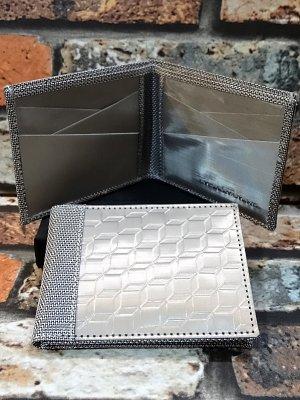 stewart stand スチュワートスタンド 防弾チョッキなどにも使用されているバリスティックナイロンを使用した 二つ折りウォレット 柄:3D BOX