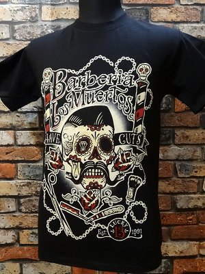 lucky13 ラッキー13 Tシャツ (Barberia Los Muertos)  カラー:ブラック