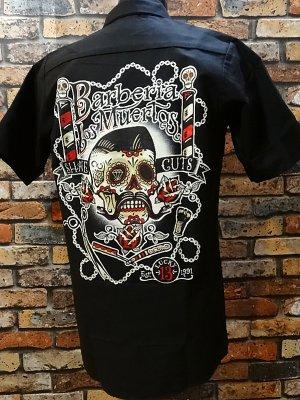lucky13 ラッキー13 半袖ワークシャツ (Barberia Los Muertos) カラー:ブラック