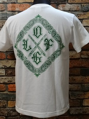 la familia original ラ ファミリアオリジナル  Tシャツ (BiEN LOCO) カラー:ホワイトxグリーン