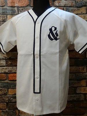 parasite パラサイト 半袖ベースボールシャツ (&) カラー:ホワイト