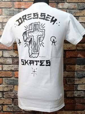 dressen skates ドレッセン スケーツ Tシャツ (D RIDER) カラー:ホワイト