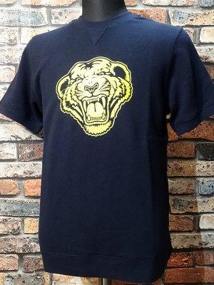 parasite パラサイト クルーネック ショートスリーブ スウェットTシャツ (TIGER) カラー:ネイビー