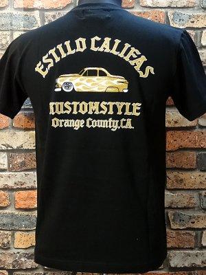 kustomstyle カスタムスタイル Tシャツ (KST1414BK) estilo califas crew neck  カラー:ブラック
