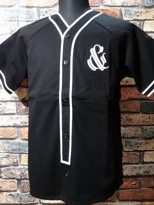parasite パラサイト 半袖ベースボールシャツ (&) カラー:ブラック