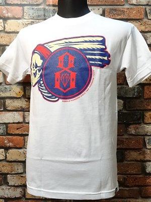 rebel8 レベルエイト Tシャツ  pioneers  カラー:ホワイト