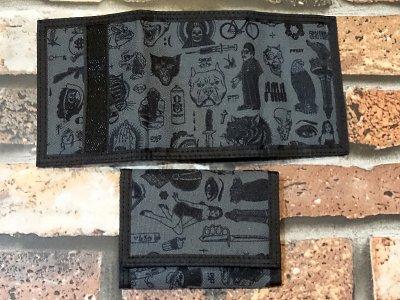 rebel8 レベルエイト 総柄 ウォレット  giant flash velcro wallet