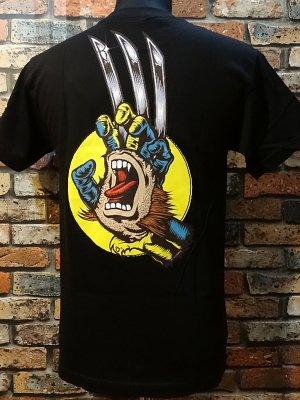 SANTA CRUZ x MARVEL COMICS   コラボTシャツ (woluverin hand)スクリーミングハンド  カラー:ブラック