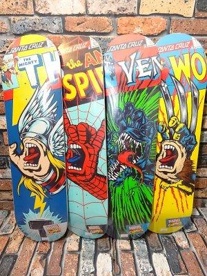 SANTA CRUZ x MARVEL COMICS   スケートボード デッキ  スクリーミングハンド