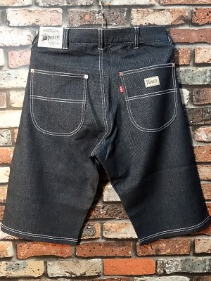 parasite パラサイト スウェットベイカー風ハーフパンツ indigo sweat short pants カラー:インディゴブルー