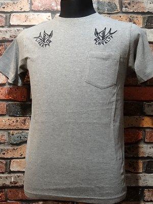 kustomstyle カスタムスタイル ポケットTシャツ (KSTPO1514GY) liberty&loyalty  カラー:グレー