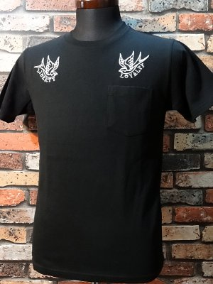 kustomstyle カスタムスタイル ポケットTシャツ (KSTPO1514BK) truck liberty&loyalty  カラー:ブラック