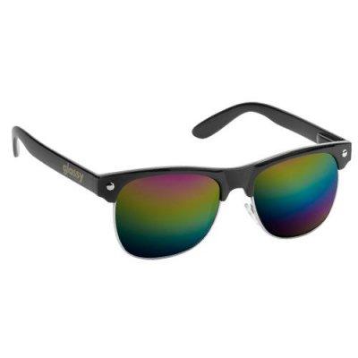 glassy sunhaters グラッシーサンハッターズ サングラス (SHREDDER)-BLACK/COLORED MIRROR