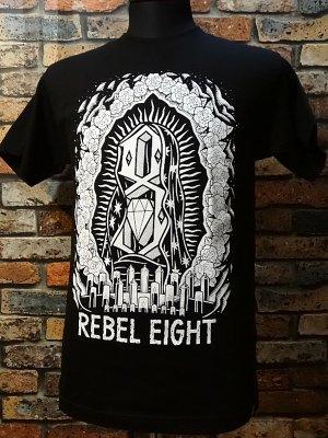 rebel8 レベルエイト Tシャツ  worship worthy  カラー:ブラック