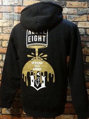 rebel8 レベルエイト スウェットパーカー  cover the zip hoodie   カラー:チャコール ヘザー