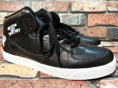 thrasher スラッシャー ハイカットスニーカー  (ブキャナンドッグ) black lux leather  カラー:ブラック