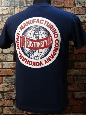 kustomstyle カスタムスタイル Tシャツ (KST1518IND) milwaukee  カラー:インディゴブルー
