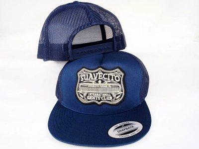SUAVECITO スアベシート  メッシュキャップ gents club cotton twill snapback mesh cap  カラー:ネイビー
