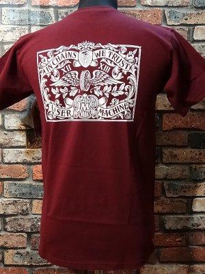 LOSER MACHINE ルーザーマシーン Tシャツ (Hallmark Tee) カラー:バーガンディー