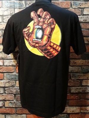 SANTA CRUZ x MARVEL COMICS   コラボTシャツ (iron man hand)スクリーミングハンド  カラー:ブラック
