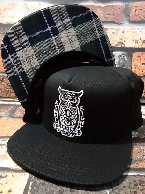rebel8 ��٥륨���� ����å�  night watch snapback  ���顼���֥�å�