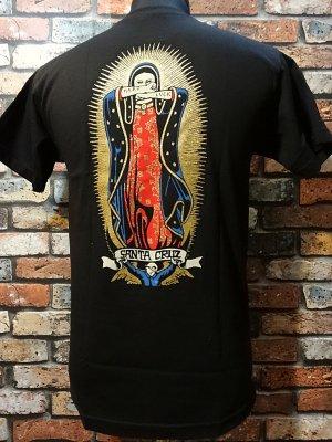 hard luck ハードラック x santa cruz サンタクルーズ Tシャツ (lady guadalupe) カラー:ブラック