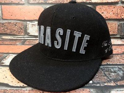 parasite パラサイト ウール スナップバックキャップ (PARASITE) カラー:ブラック