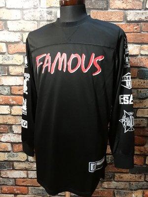 famous stars and straps  ジャージーロングスリーブTシャツ (Raised on Rap LS Mesh Jersey)  カラー:ブラック