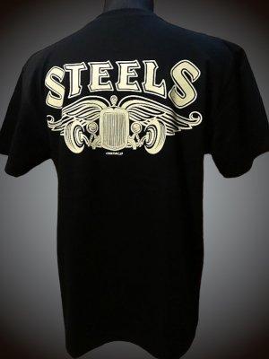 steel-hot rod wear スティール Tシャツ (STL-C003) makoto design カラー:ブラック