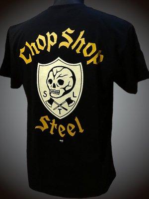 steel-hot rod wear スティール Tシャツ (STL-C019) grimb design カラー:ブラック
