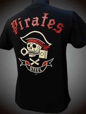 steel-hot rod wear スティール Tシャツ (STL-C028) grimb design カラー:ブラック